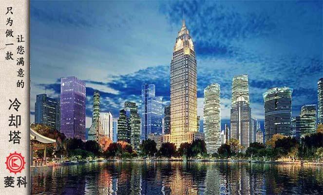 CFD时代财富中心1400吨无风机冷却塔案li